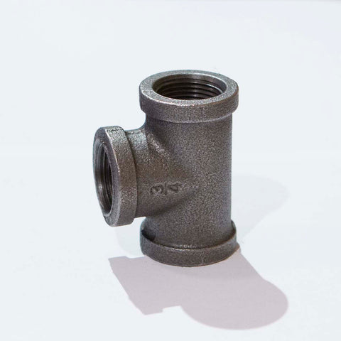 "BF1230 Black Iron Fitting, Tee 1/2"" - RustyDesign"