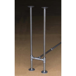 "H34"" - BKH1134C Pipe Legs KIT for Narrow Counter Height Table H shape, 11"" x H34"" Pack of 2 with Cross Bar - RustyDesign"