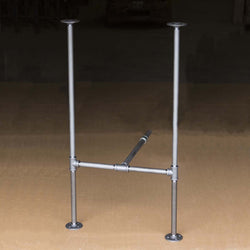 "H40"" - BKH2340C Pipe Legs Kit for Bar Table H Shape, 23"" x H40"" Pack of Two with Cross Bar - RustyDesign"