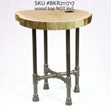 "H21"" ROUND - BKR21**** Pipe Legs KIT for Side Table - RustyDesign"