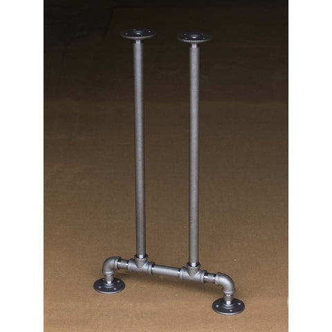 "H28"" - BKT1628 Pipe Legs KIT for Console Table Narrow Desk, T shape, 16"" x H28"", Pack of 2 - RustyDesign"