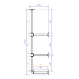 * BSF103* Kitchen Shelves Pipe KIT, 3-tiered - RustyDesign