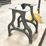 CAST11 Cast Iron Dining Table Legs, 2 pack - RustyDesign