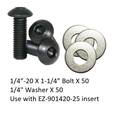 "EZB0104-54 Bolts and Washers Set 1/4""-20 (length 1-1/4"")"
