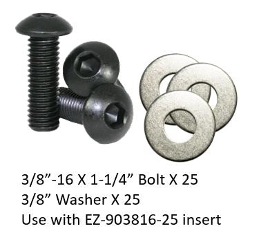 "EZB0308-54 Bolts and Washers Set 3/8""-16 (length 1-1/4"")"