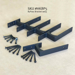 HKBP5, Bypass Bracket set/5, for barn door hardware - RustyDesign