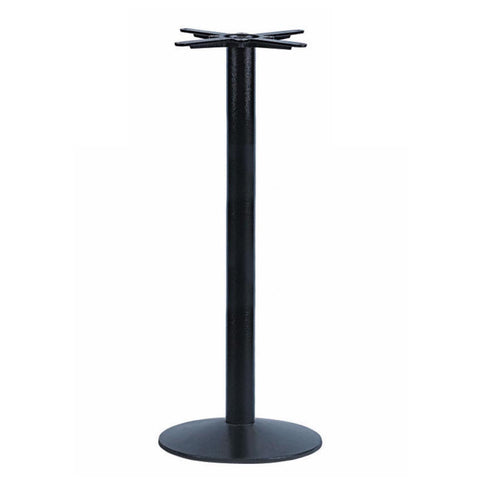 JK3001H Cast Iron Table Base, Bar Height, Round Base - RustyDesign