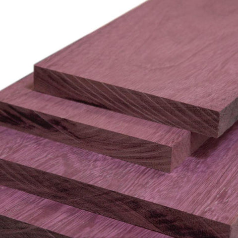 Rough Sawn Purple Heart 4/4, Pack of 10 Board Feet - RustyDesign