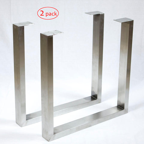 SS100A2 Stainless Steel Dining Table U Legs, 1 Pair - RustyDesign