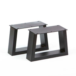 SS250 Trapezoid Short Table Legs, Black Powder Coated, 1 Pair