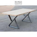 SS310 Z-shape Dining Table Legs, 1 Pair - RustyDesign