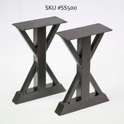 SS500 Trestle Bench Legs, Black Powder Coated 1 Pair