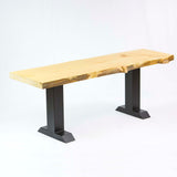SS800 Tee Shape Bench legs, 1 Pair, Black Powder Coated