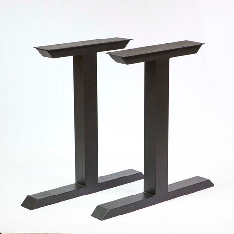 SS810 Tee Shape Dining Table legs, 1 Pair, Black Powder Coated