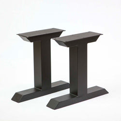 SS820 Tee Shape Coffee Table Legs, 1 Pair, Black Powder Coated