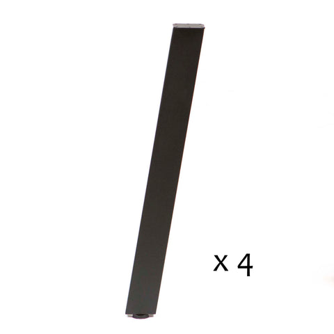 SS910 Angled Dining Table Legs, Black Powder Coated, Set/4