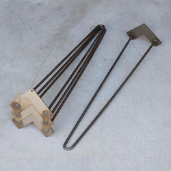 "* W5031A4 Classic 2-rod hairpin leg 28"" set/4 - RustyDesign"