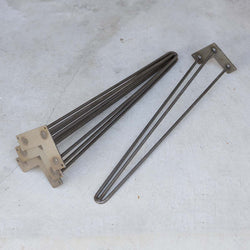 "W5032A4 Reinforced 3-rod Hairpin leg 28"" set/4 - RustyDesign"
