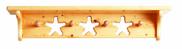 Child's Wooden Peg Shelf