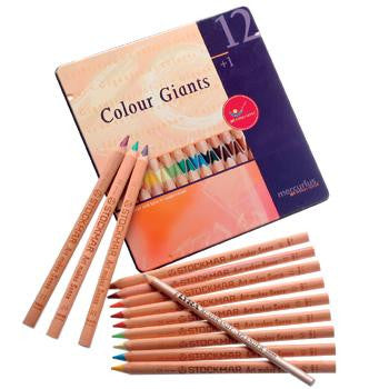 12 Color Giant Pencils plus Splender in a Tin