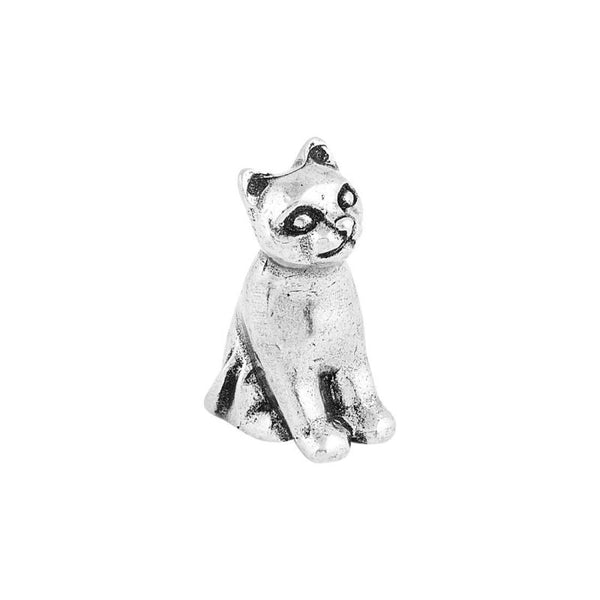 Pewter Cat Netsuke