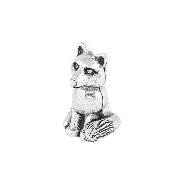 Pewter Fox Netsuke