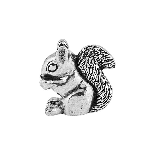Pewter Squirrel Netsuke