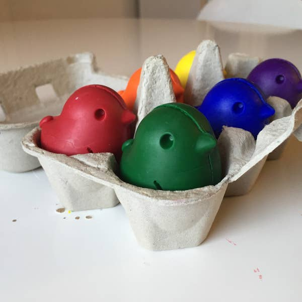 Beeswax and Soy Chick Crayons - Set of 6