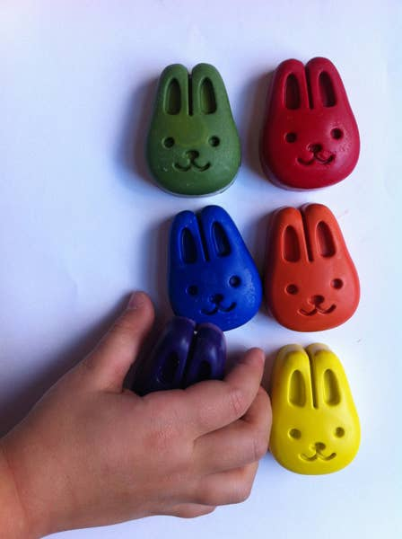 Beeswax and Soy Bunny Crayons - Set of 6