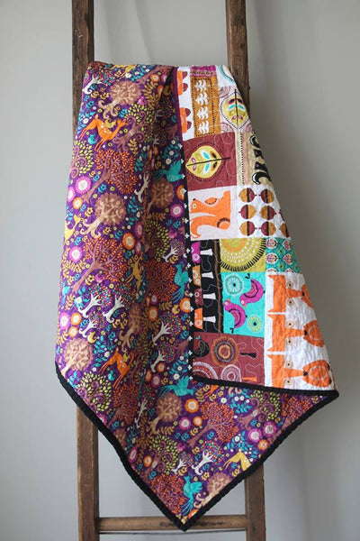 Squirrel & Fox Baby Quilt