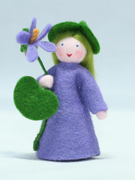 Violet Fairy Felted Waldorf Doll