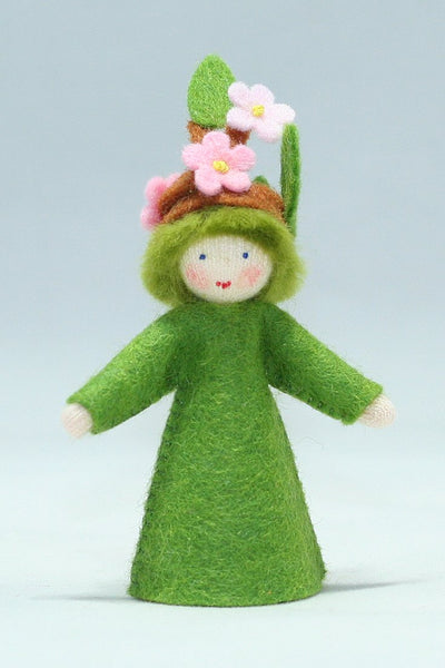 Apple Blossom Felted Waldorf Doll - Two Skin Colors
