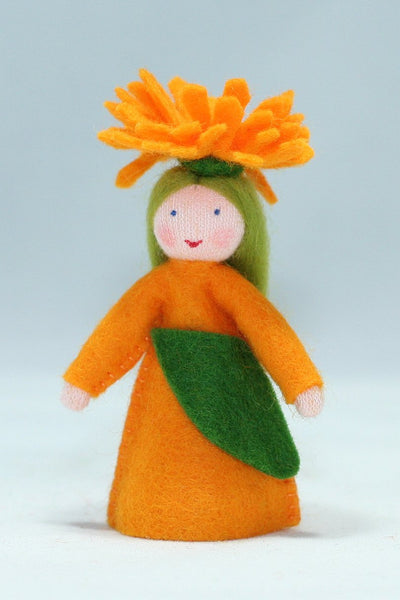 Calendula Fairy Felted Waldorf Doll - Four Skin Colors