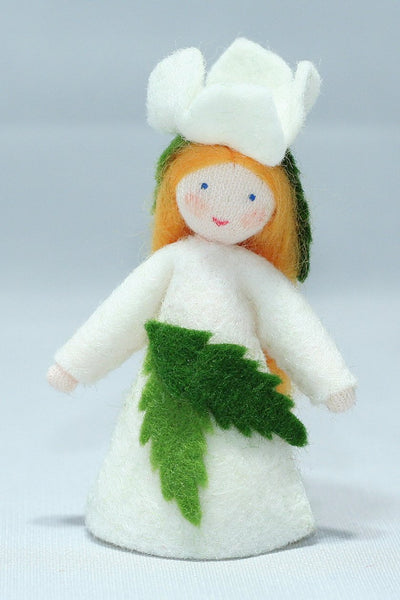 Christmas Rose Fairy Felted Waldorf Doll
