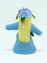 Load image into Gallery viewer, Forget-Me-Not Fairy Felted Waldorf Doll - Four Skin Colors