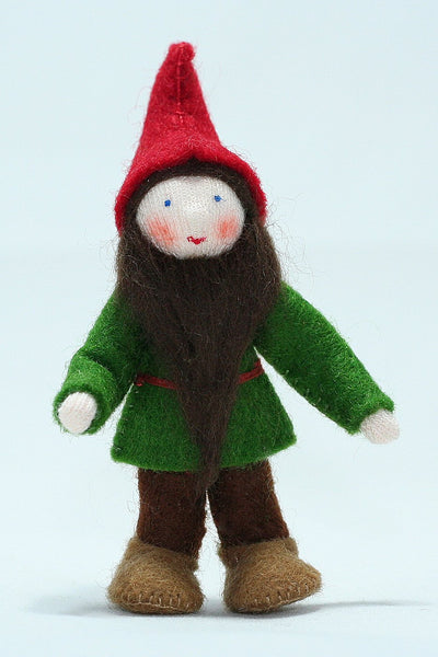 Garden Gnome Felted Waldorf Doll