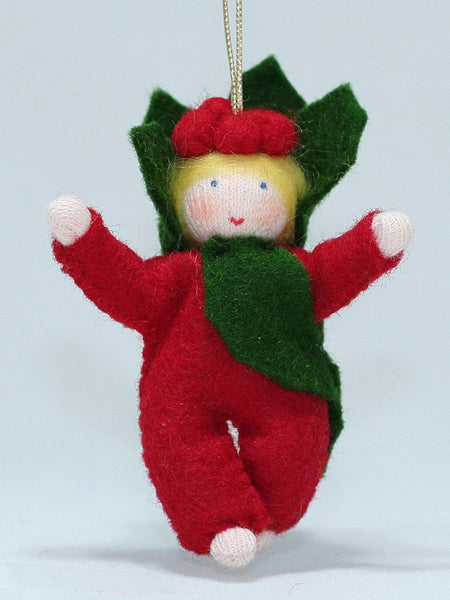 Baby Holly Berry Felted Waldorf Doll