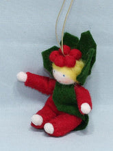 Load image into Gallery viewer, Baby Holly Berry Felted Waldorf Doll