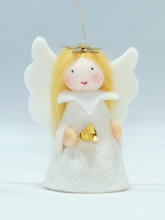 Jingle Angel Felted Waldorf Doll