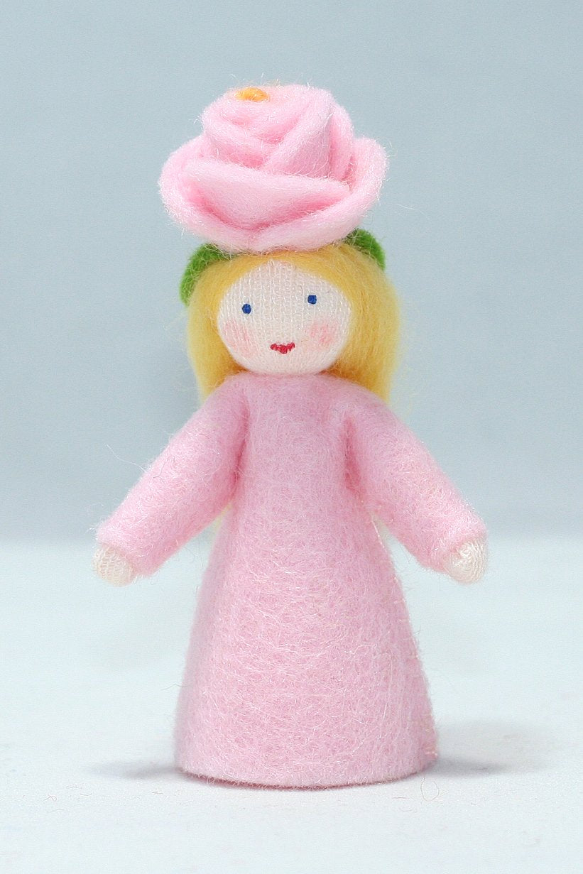 Rose Fairy Felted Waldorf Doll