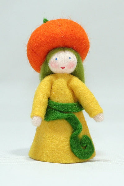 Pumpkin Girl Felted Waldorf Doll - Three Skin Colors