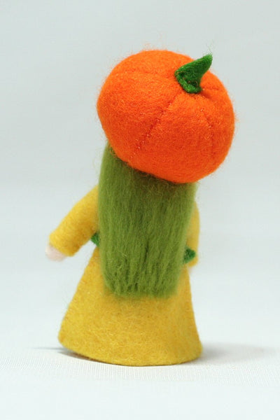 Pumpkin Girl Felted Waldorf Doll