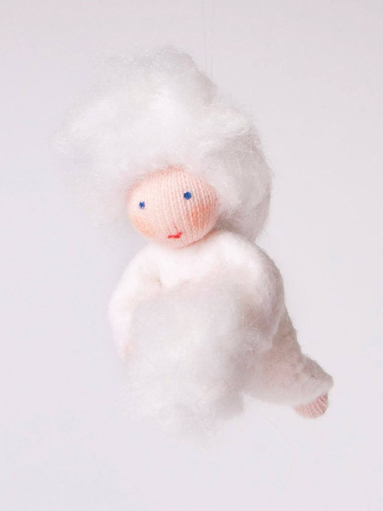 Snowball Baby Felted Waldorf Doll
