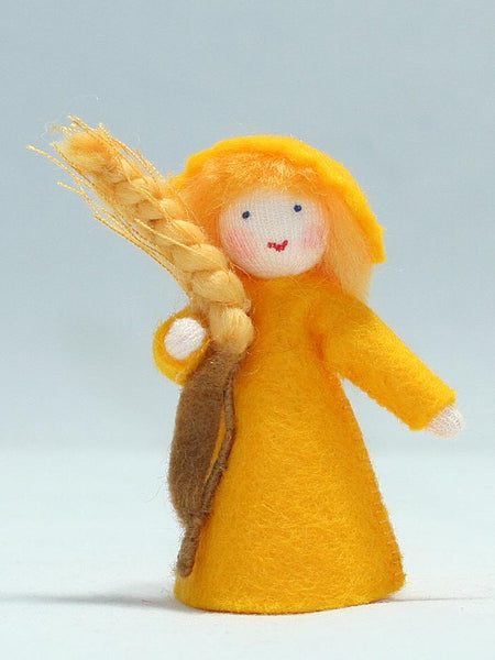 Wheat Prince Felted Waldorf Doll