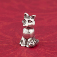 Load image into Gallery viewer, Pewter Fox Netsuke