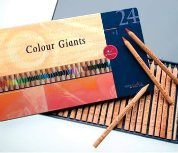 24 Color Giant Pencils plus Splender in a Tin