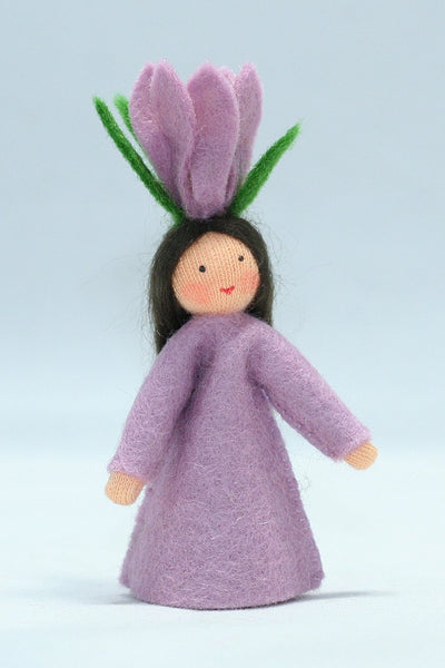 Crocus Fairy Felted Waldorf Doll - Two Skin Colors