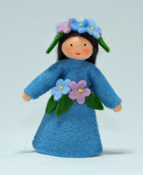 Forget-Me-Not Fairy Felted Waldorf Doll