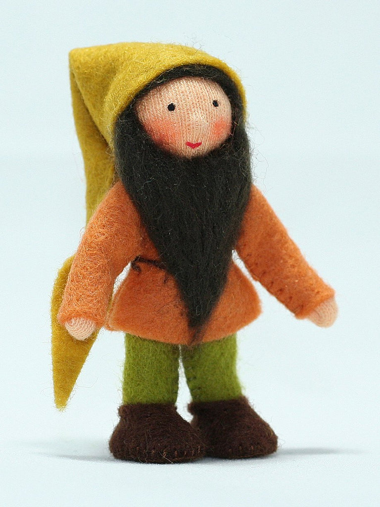 Mountain Dwarf Felted Waldorf Doll