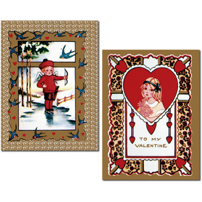 Vintage Victorian-Style Valentines - Set of 12 Cards